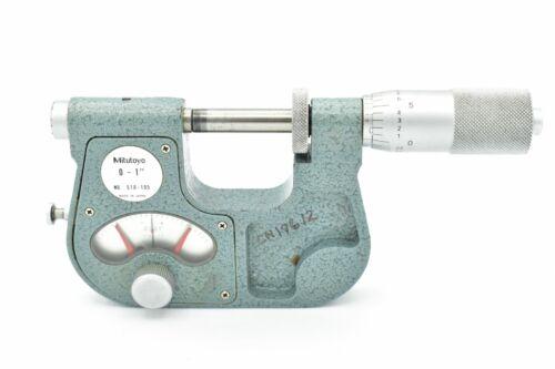 "Mitutoyo No. 510-105 Jeweled Carbide Indicating Micrometer .0001"" 0-1"" Range"