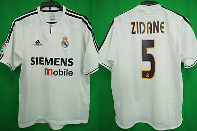 37a46802ff6 2003-2004 Real Madrid Jersey Shirt Camiseta Home SIEMENS mobile Zidane #5 M