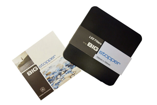Lee Big Stopper 10 stop Filters 100x100mm Glass Filter from Carmarthen Cameras