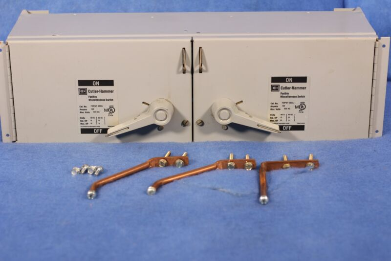 Cutler-Hammer Fusible Miscellaneous Switch FDPWT3633J Twin 100 A 1 Year Warranty