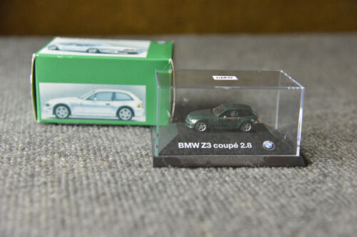 BMW M Coupe 2.8 M3 Z3 Dealer Edition Mini Champs Coupe Green Collector Model Toy