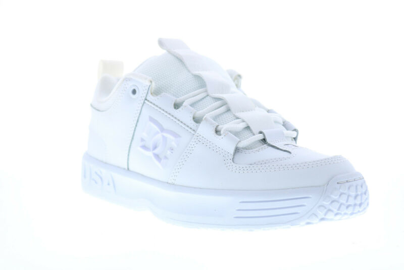 DC Lynx OG ADYS100425 Mens White Leather Skate Sneakers Shoes