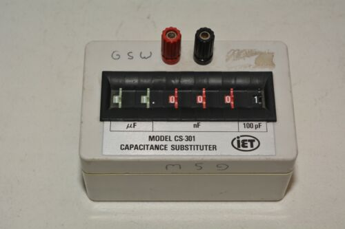 IET Labs RS-301 RC-box Resistance Capacitance Substituter
