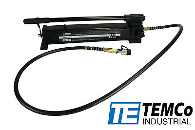 Temco Manual Hand Hydraulic Power Pack Pump 2 Stage 10000 Psi 122 In3 Capacity