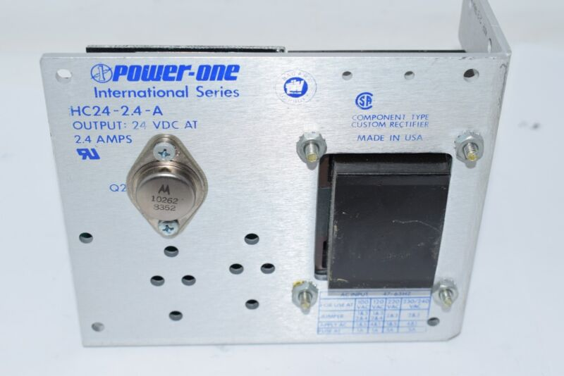 Power One HC24-2.4-A 24 VDC 2.4 Amp 58 W Linear Power Supply