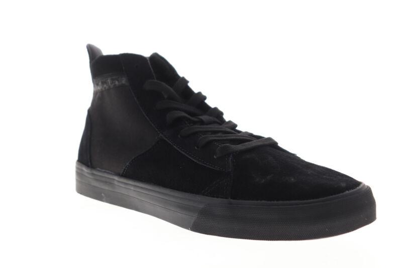 Supra Stacks Mid 05903-001-M Mens Black Suede High Top Skate Sneakers Shoes