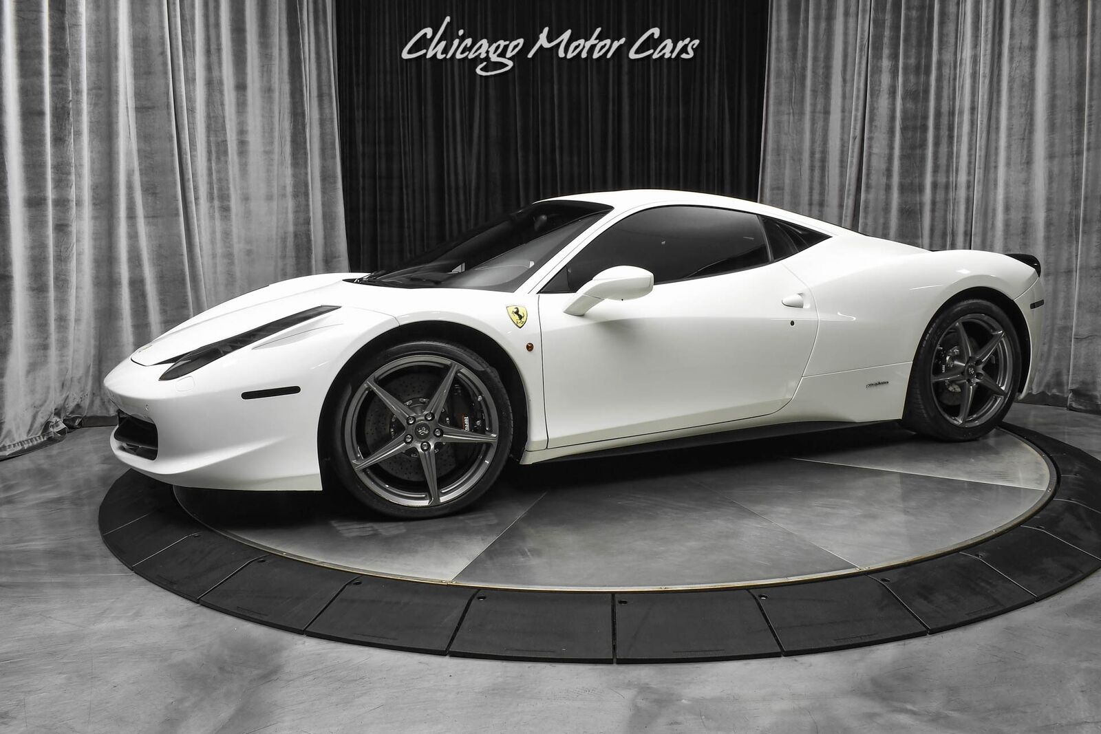 2012 Ferrari 458 Italia Coupe Only 17k Miles Carbon Fiber LED Steering Whe Bianc