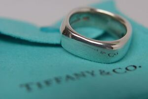Tiffany & Co. Sterling Silver Size 6 Square Cushion Band Ring