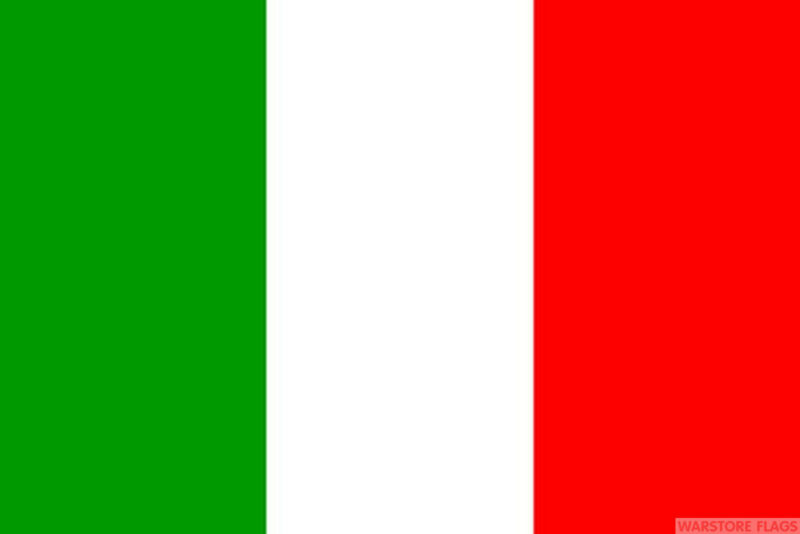 """ITALY mini flag 9"""" x 6"""" 22cm x 15cm flags ITALIAN"""