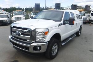 2011 Ford F-250 SD XLT Crew Cab Long Box 4WD with Canopy