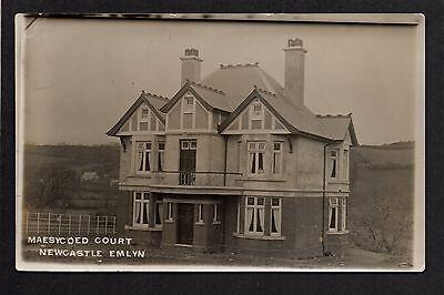Newcastle Emlyn - Maesycoed Court - real photographic postcard