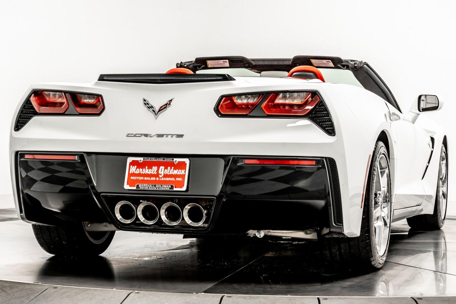 2015 White Chevrolet Corvette Convertible 3LT   C7 Corvette Photo 8