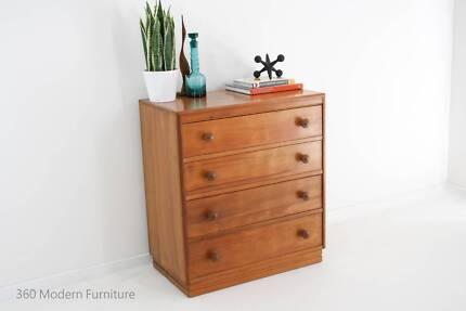 Mid Century Drawers Dresser Sideboard Retro Vintage Danish