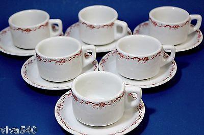 !!!!! Kantinengeschirr Heinrich 6 Kaffeetassen 2tlg uralt Jugendstil !!!!!!!!!