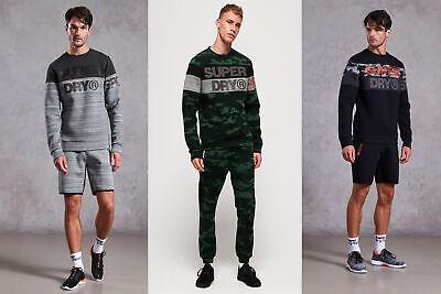 Superdry Mens Gym Tech Cut Crew Sweatshirt
