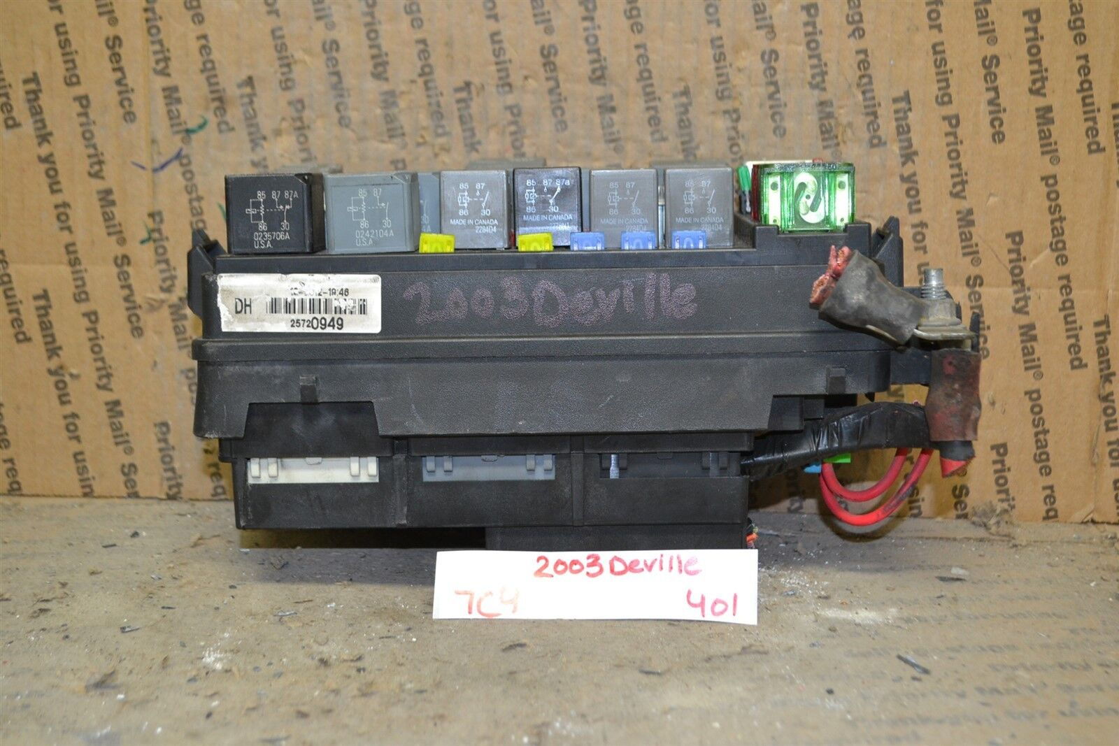 Used Cadillac Computers Chips Cruise Control And Related Parts For In 2001 Deville Fuse Box 22000 2005 Junction Oem 25720949 Module 401 7c4