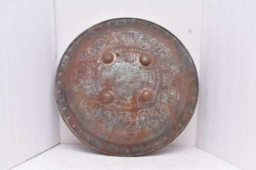 "antique Mughal or India Indo Islamic Vintage Dhal Shield weapon armor 19""."