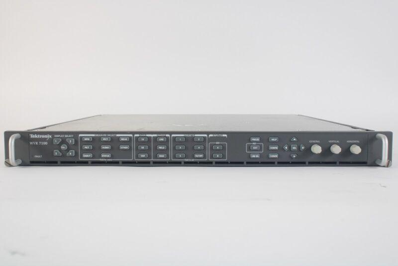 Tektronix WVR 7100 Multi-Standard Wareform Rasterizer - Options SD and HD