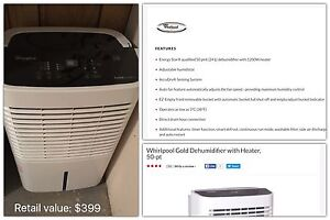 Whirlpool Gold dehumidifier with heater