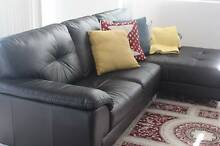 High Quality Italian Leather 2.5 seater+Chaise AS NEW Drummoyne Canada Bay Area Preview