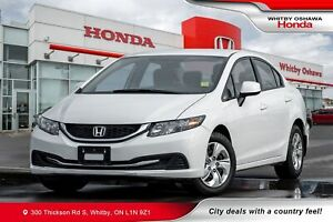 2013 Honda Civic LX (M5) | Heated Seats, Power Amenities, Blueto