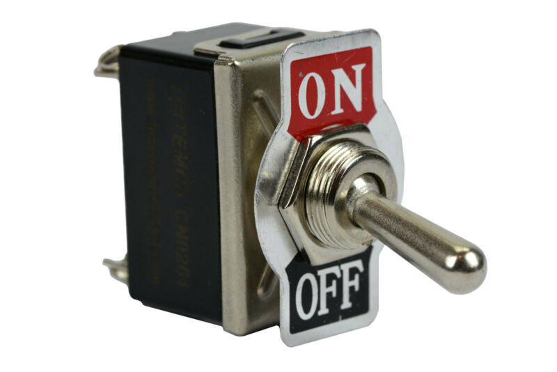 TEMCo Heavy Duty 20A 125V ON-OFF DPST 4 Terminal Toggle Switch