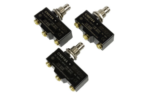 3 LOT TEMCo HEAVY DUTY 15A Micro Limit Switch Plunger SPDT Snap Action 125/250v