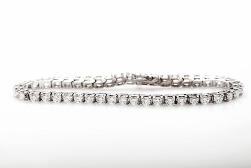 Estate $20,000 8ct VS F G Diamond 14k White Gold Tennis Bracelet NICE!!!
