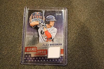 Alex Bregman 2015 USA Baseball Stars & Stripes Game Gear Materials Longevity #6