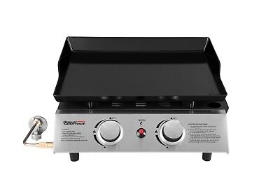 Royal Gourmet Outdoor Camping Portable 2 Burner Propane Gas Grill Griddle PD1200