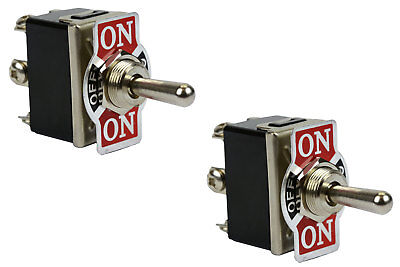 2 Pc 20a 125 V Toggle Switch 125v On-off-on Dpdt 6 Terminal Momentary 1 Side