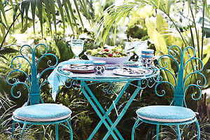 Outdoor dining set rustic blue Boondall Brisbane North East Preview