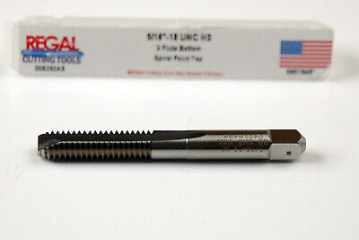 "A-5-11-7-5 5//16/"" X 18 HSS GH3 2 FLUTE SPIRAL POINT BOTTOM TAP"