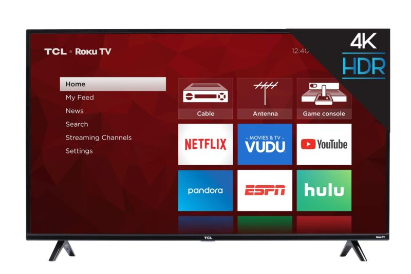 TCL 43-inch 4K Ultra HD HDR Roku Smart TV - 43S425