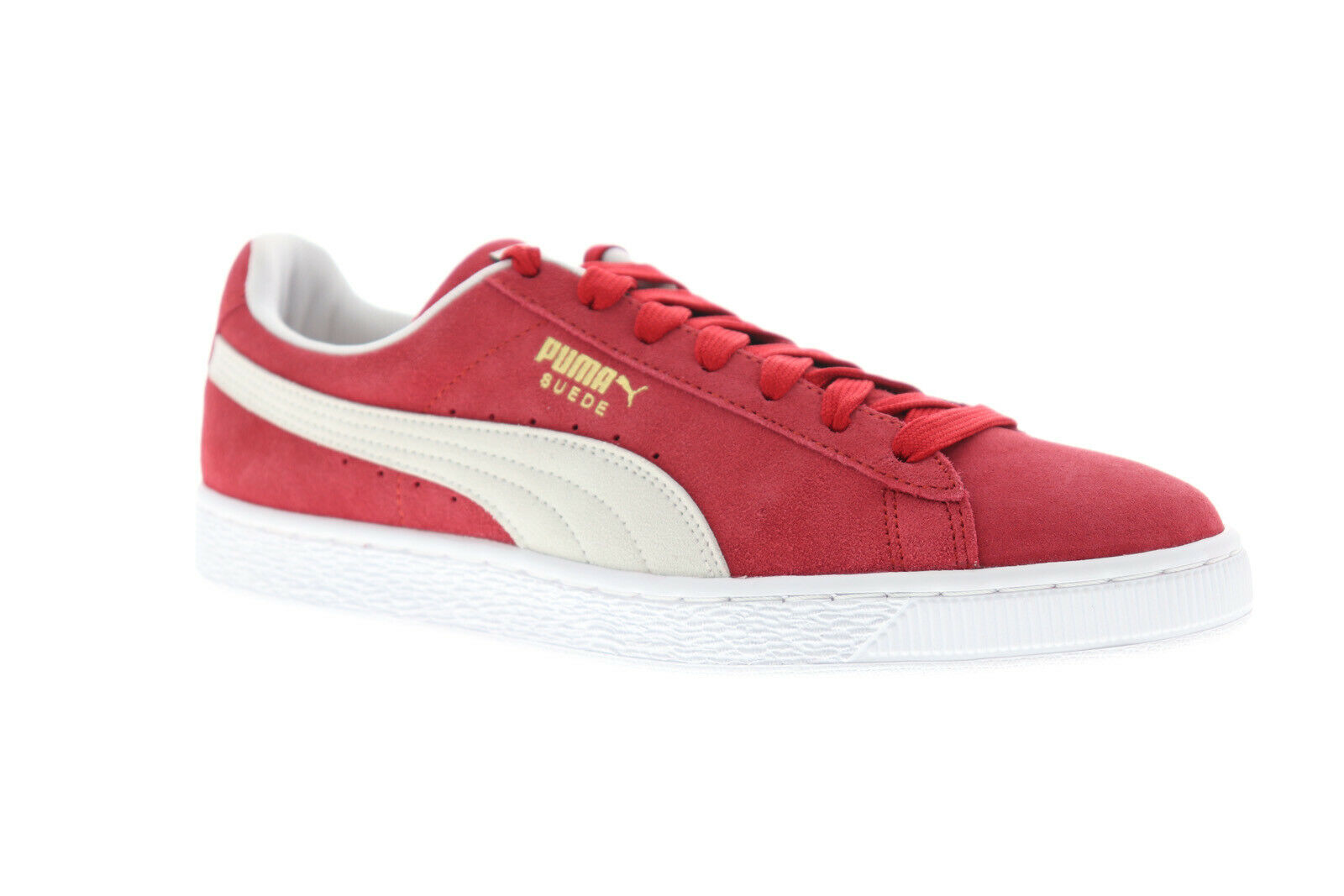 Puma Suede Classic+ 35263405 Mens Red Lace Up Low Top Sneakers Shoes