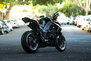 Black Kawasaki Z1000 ABS - 2011 - Prince Noir Lewisham Marrickville Area Preview
