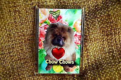 Chow Chow Gift Dog Fridge Magnet 77x51mm Birthday Gift