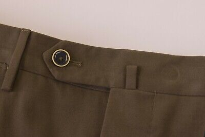 PT01 HEPCAT NWT Dress Pants Size 50 (34 US) In Solid Brown Cotton Blend $395
