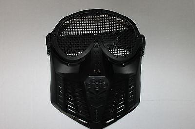 MASKE schwarz mit Metallgitter / Softair / Schutzmaske