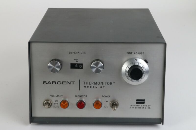 Sargent ST Thermonitor, Heater and Circulator for Thermostatic Bath Bodine Motor