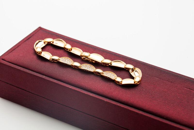 $7000 Signed Derain 2ct Vs F Diamond 18k Yellow Gold Tennis Bracelet & Box