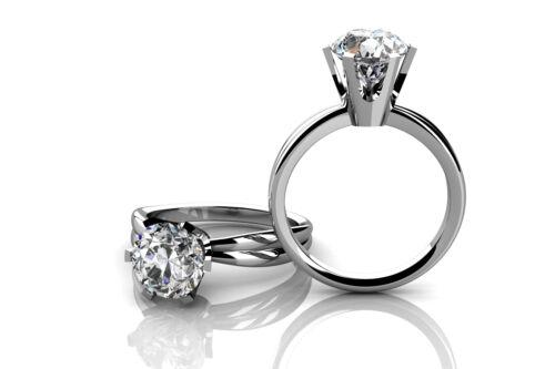 1 Carat Round Cut Diamond Engagement Solitaire Ring GIA Certified Platinum