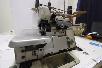 SEWING MACHINE - INDUSTRIAL SINGER 2 NEEDLE 3/5 THREAD OVERLOCKER Hillcrest Logan Area Preview