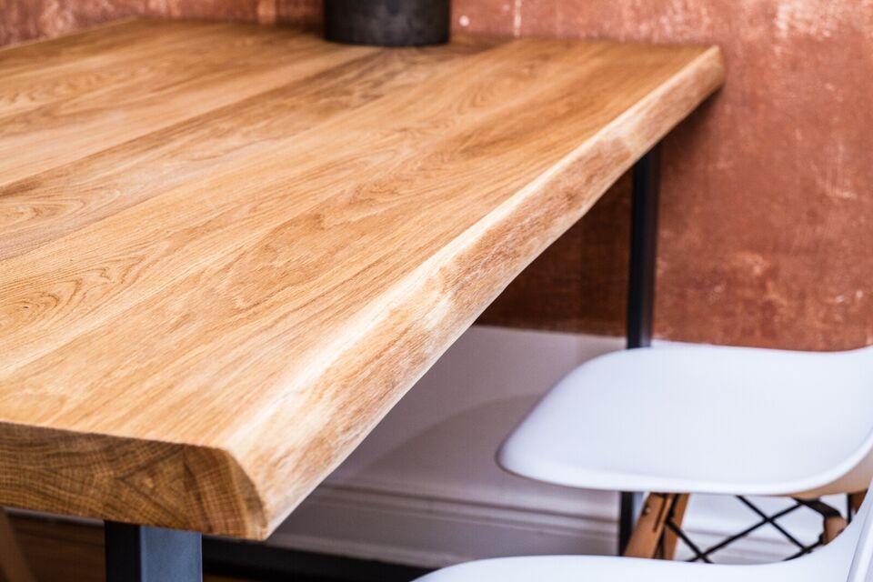 Eiche Baumkante Tischplatte Esstisch Küchentisch Gastronomie Holz in Nord - Hamburg Winterhude