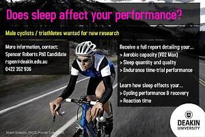 NEW Sport Science: Cycling Research Deakin University Burwood Whitehorse Area Preview