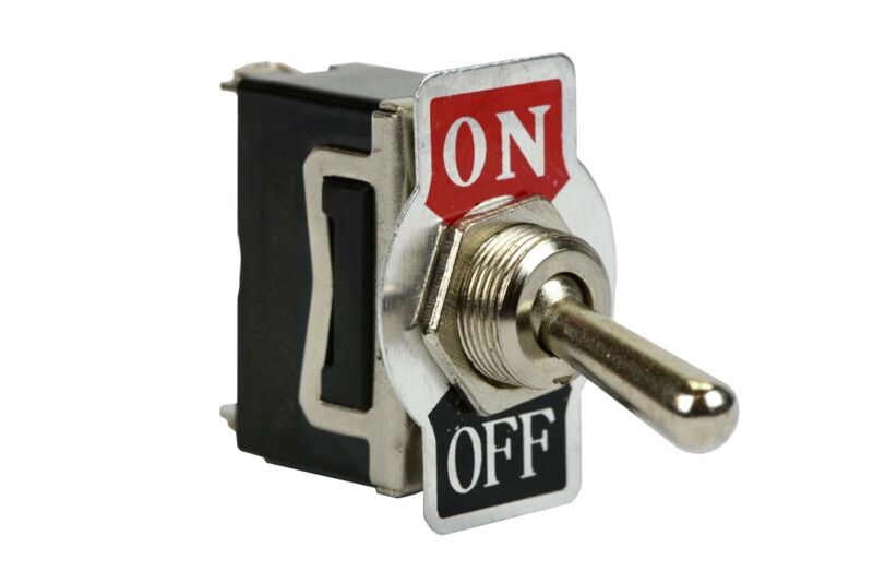 TEMCo Heavy Duty 20A 125V ON-OFF SPST 2 Terminal Toggle Switch