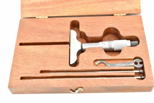 "Starrett 449 Blade Depth Micrometer 0""-3"" .001"" w/ Case, Complete No Etchings"