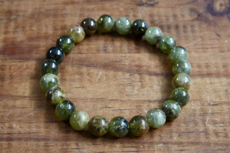 Green Garnet (Grossularite) Bracelet (8mm)