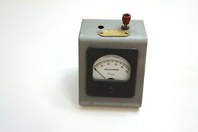 Vintage Simpson Milliamperes 0 - 100 Mounted Panel Meter Direct Current