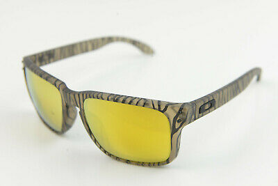 Oakley Holbrook Matte Sepia Urban Jungle/24k Gold OO9102-99 Sunglasses Tiger